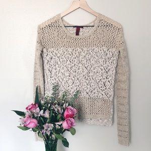 BKE Crochet Sweater